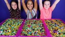 ORBEEZ CHALLENGE Super Sour Brain Blasterz Candy - Shopkins - Trash Pack Prizes Toy Opening