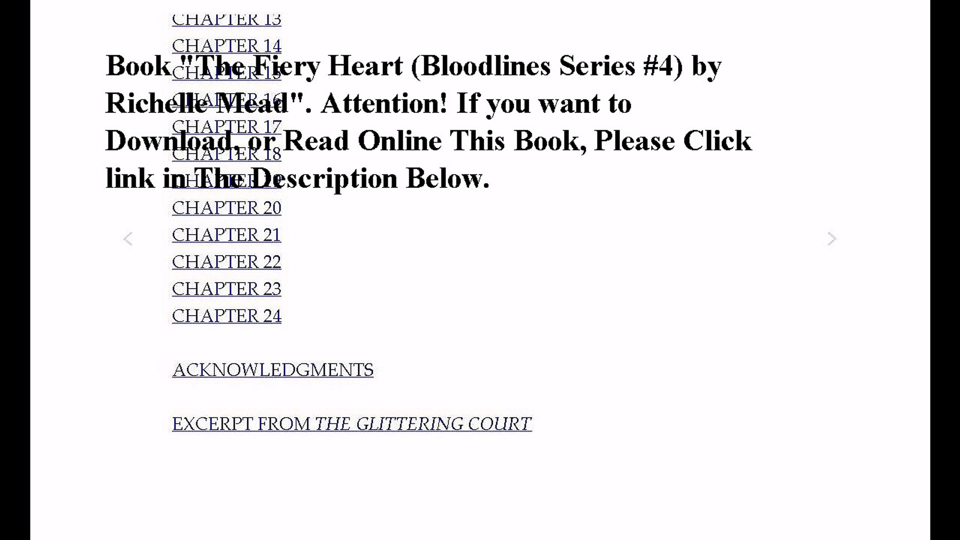 Download The Fiery Heart (Bloodlines Series #4) ebook PDF