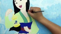 SPEED DRAWING MULAN - Disney Princess Watercolor Painting