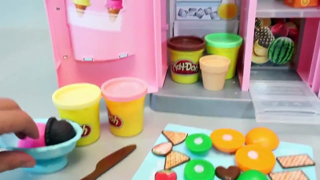 Mundial de Juguetes & Play Doh Ice Cream Maker & Food Refrigerator, Playdough Toys