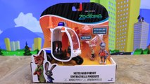 Zootopia Nick Wilde and Judy Toys Police Officer Giving Parking Tickets and Throwing the Fox in Jail
