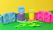 Play-Doh Flowers Play Dough Flower Garden Maker Vintage Plants and Pots Roses, Daisy, Tulips