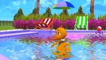 Funny Little Boy Elephant In Swimming Pool   Little Babies Five Little Ducks Children Nursery Rhymes