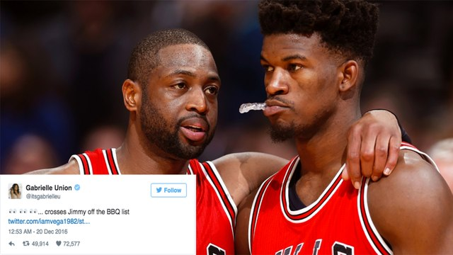 Jimmy Butler Tries To Hook Dwayne Wade Up with Girls, Gabrielle Union Throws Twitter Shade