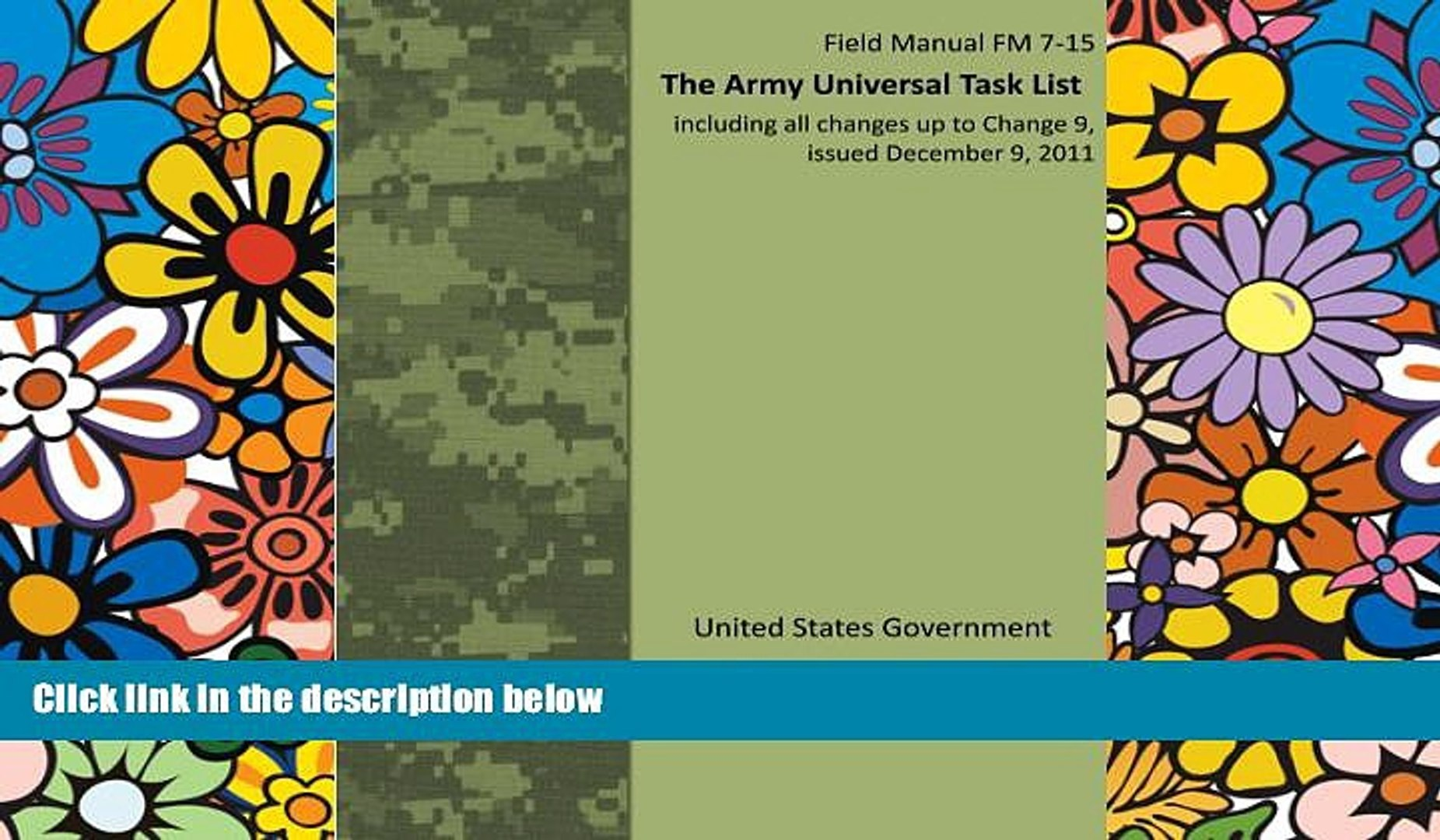 Best Price Field Manual FM 7-15 The Army Universal Task List including all changes up to Change 9,