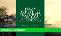 Price Essay Writing Maturity For Law Students: Step by Step to 85% bar essays by a bar exam essay