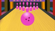 Learn colors with colors bowling game   Nursery children learn colors Fun Learning Videos for Babies