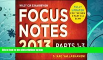Best Price Wiley CIA Exam Review Focus Notes, Complete Set (Parts 1-3) S. Rao Vallabhaneni For