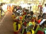 Dol celebration at Viswa Bharati