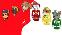 Power Rangers Paw Patrol Outfit Change | Painting For Kids & Toddlers #Animation