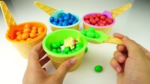 Colors M&Ms Pretend Ice Cream Cups Surprise Toys Sponge Bob Minions Paw Patrol Frozen Anna