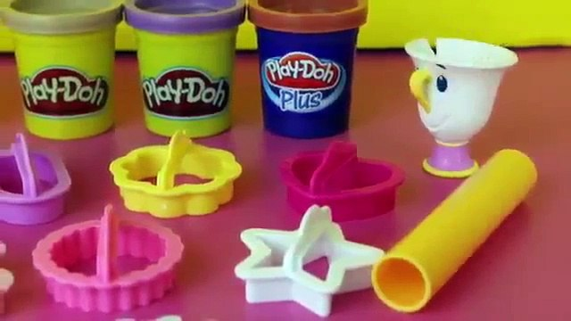 Play Doh Beauty and the Beast Belle Beast Mrs Pots Play Doh Plus DisneyCarToys