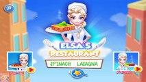 Elsas Restaurant Spinach Lasagna - Disney Frozen Princess Elsa Cooking Game for Kids