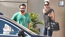 Saif Ali Khan & Karisma Kapoor Visit Kareena Kapoor At Hospital