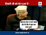ND Tiwari hugs Rohit Shekhar, accepts him as biological son