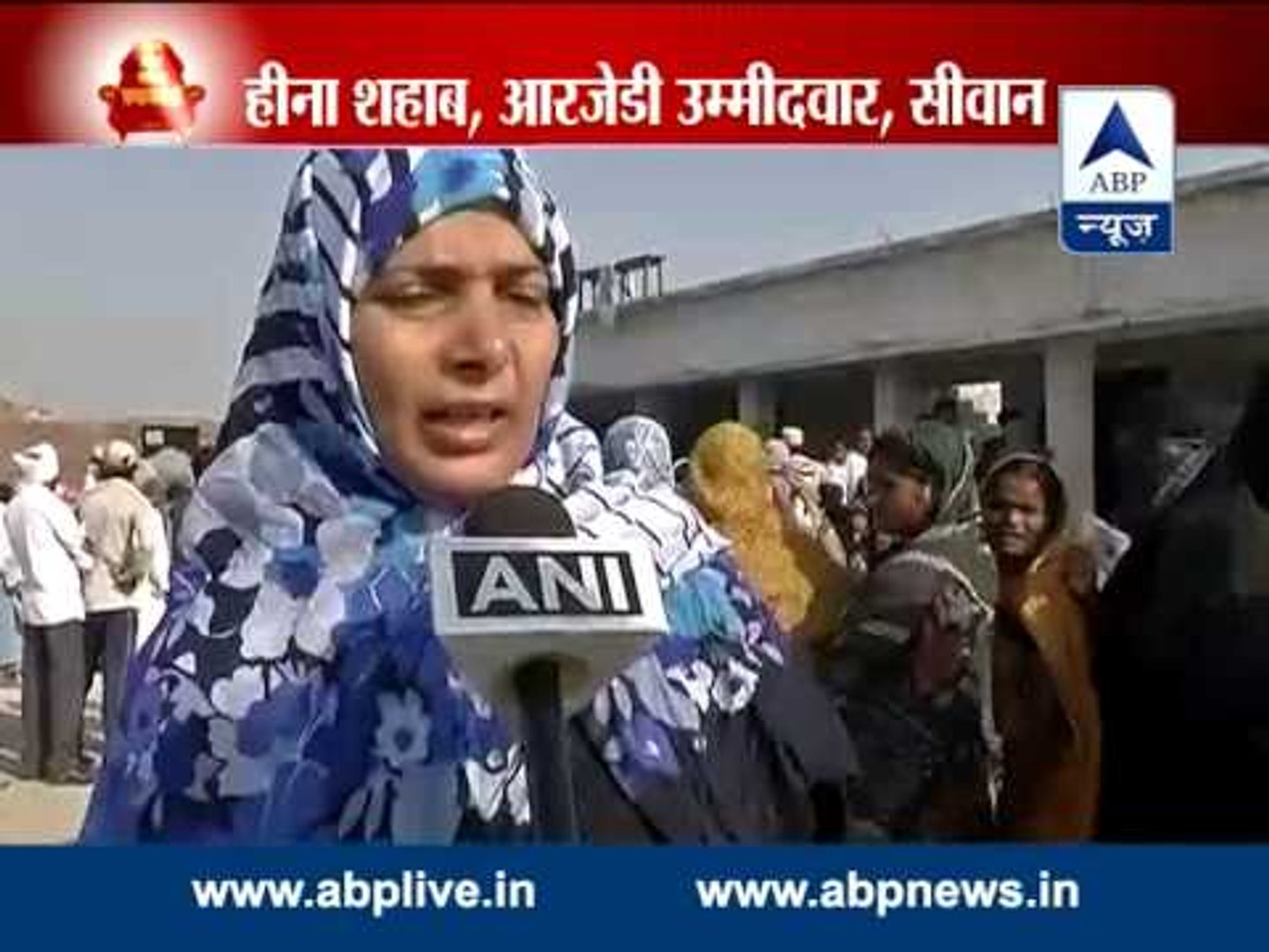 Heena Shahab, RJD candidate in Siwan, casts her vote