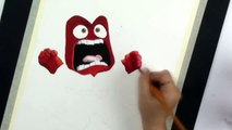 SPEED DRAWING ANGER from Inside Out - Angry Emotion Watercolor Painting