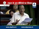 Was Rahul Gandhi sleeping in Lok Sabha today?