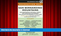 READ MAP San Bernardino Mountains  San Bernardino National Forest San Gorgonio Wilderness San