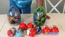KINDER SURPRISE EGGS Unboxing Opening Surprise Eggs Kids Toys Paw Patrol Disney Cars Minions TMNJ