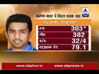 Karun Nair becomes second Indian to hit triple century; Know all about him here