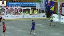 Quarts de finale, simple et combiné U18, Sport Boules, Mondial Jeunes, Monaco 2016
