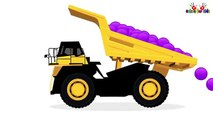 Color Balls Dumping Truck | Learn Colors with Dump Trucks for Children