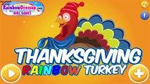 Thanksgiving Rainbow Turkey - Thanksgiving Turkey Makeover Game for Kids