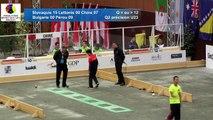 Second passage qualification, tir de précision U23, Sport Boules, Mondial Jeunes, Monaco 2016