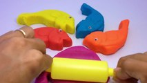 Learn Colours with Play Dough Fish Molds Fun and Creative For Kids - Happy Toys Collection