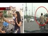 Sansani: Delhi police cops caught breaking traffic rules with audacity