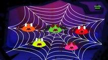 Five Scary Spiders | Nursery Rhymes | Scary Rhymes | Halloween