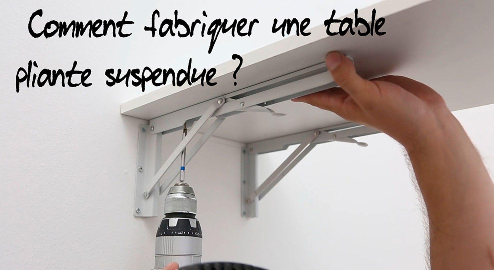 Fabriquer Une Table Escamotable comment fabriquer une table pliante suspendue ?