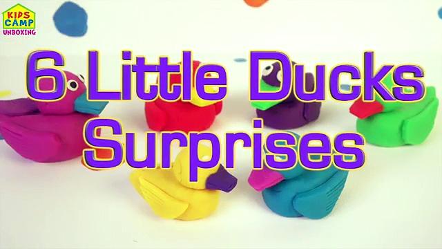 Play Doh Ducks Surprise Eggs Nursery Rhymes Six Little Ducks Surprise Toys Playdough by KC Toys