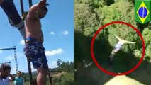 Brazilian thrill-seeker dives head-first into the ground in fatal bungee jump