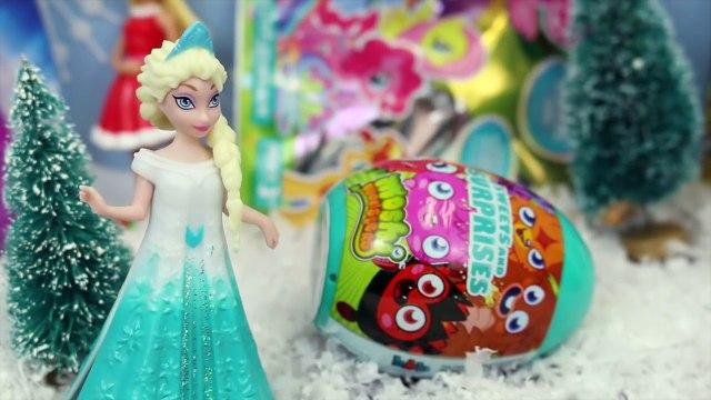 FROZEN SURPRISE TOYS Elsa Anna Magic Clip Dolls Shopkins Kinder Surprise Eggs Minecraft Blind Bags