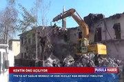 Kentin Önü açılıyor... TTK'ya ait Sağlık Merkezi ve Eski Kızılay Kan Merkezi yıkılıyor...