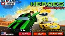 Spongebob Vs Ben 10 Vs Scooby Doo vs Transformer Vs Spider - games - compilation etc Heroes Knockout