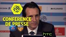Conférence de presse Paris Saint-Germain - FC Lorient (5-0) : Unai EMERY (PARIS) - Bernard  CASONI (FCL) - 2016-17