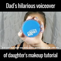 Dad's Hilarious Voiceover of Daughter's makep tutorial