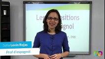 Les prépositions en espagnol – sobre, tras - Espagnol