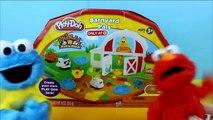 Sesame Street Cookie Monster & Elmo Help to make Play Doh Barnyard Pals