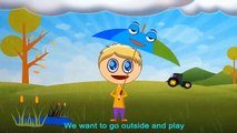 Rain, Rain, Go Away⛈ ⛈ ☔ ☔ ☔ | Nursery Rhyme with Lyrics ⛱ ⛱ ⛱ | Rain Rain Go Away Song for Children