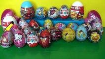 30 Surprise eggs Маша и Медведь Angry Birds Kinder Surprise Marvel W