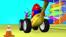 Wheels On The Bus BANANA CAR vehicle plus more nursery rhymes kids songs 3d rhymes childrens rhymes