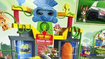 PAW PATROL JUNGLE RESCUE MONKEY TEMPLE WITH MONKEY MANDY & TRACKER AND HIS JUNGLE RESCUE VEHICLE