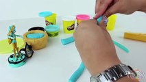 ♥ Monster High Lagoona Blue Play Doh Cake Lagoona Ghoul Cupcake Playdough Creative for Children