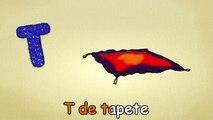 Alfabeto para crianças - T-Canção - O Alfabeto em português - canções infantis   Portuguese T-Song