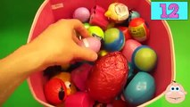 NEW Huge 111 Surprise Egg Opening Kinder Surprise Mickey Minnie Mouse and Elmo