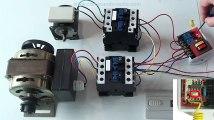 commande à distance des 2 moteurs CA 380V par Kit Émetteur Récepteur Sans Fil et Émetteur/Télécommande radio